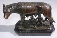 Romulus und Remus Bronze von Nissini Rom