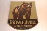 Altes Blechschild der Bären-Bräu Schwenningen