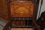 Hochzeit Stuhl Intarsiert 1835