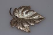 Ahornblatt Brosche Silber