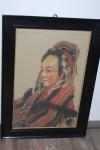 Gemälde Rottweiler Fransenkleid