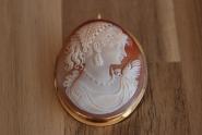 Gemme Kamee Muschel 750/18K Gold