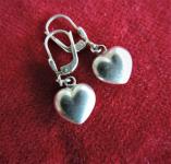 Silber Herz Ohrringe