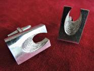 Silber Manschettenknöpfe