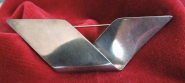 Schlichte Silber Brosche
