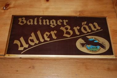 Werbeschild der Balinger Adler Bräu