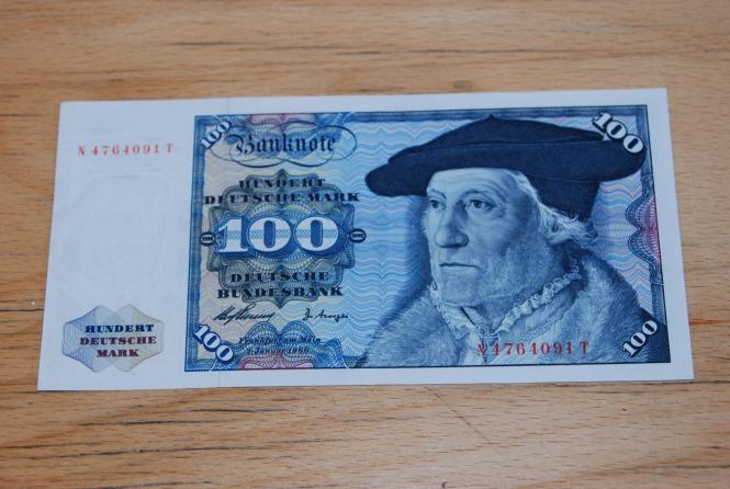 100 DM Schein Druckfrischer Erhaltungszustand
