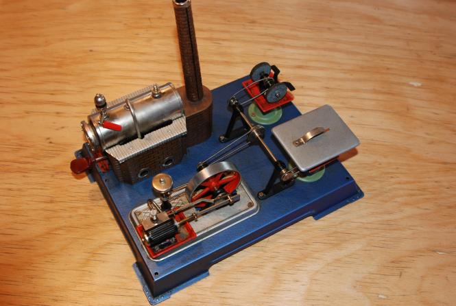 Dampfmaschine mit Zubehör
